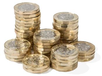 Saving money - pile of coins