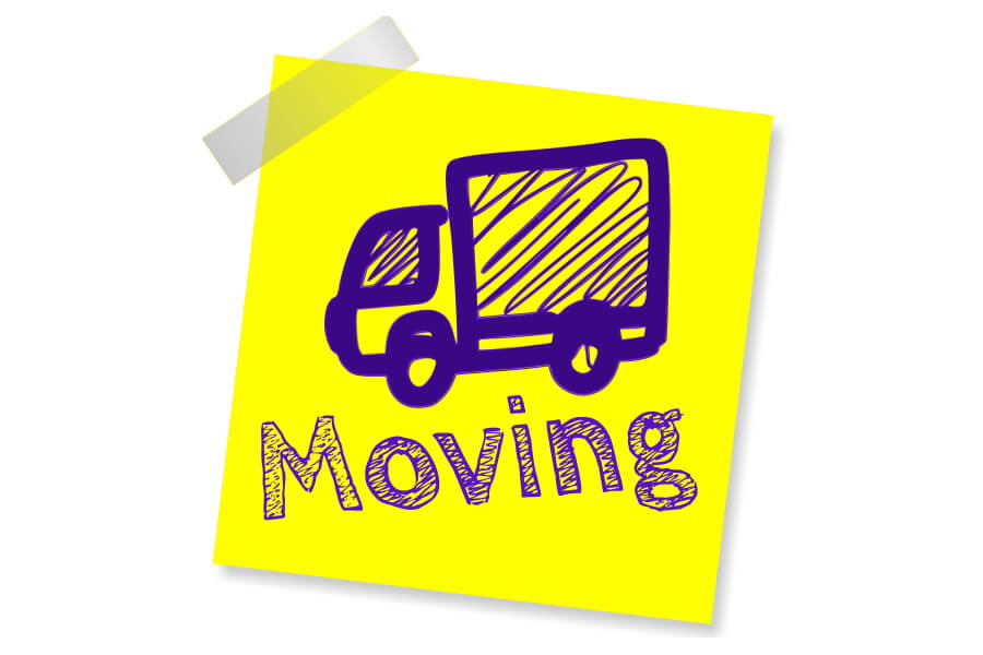 Moving or relocating home