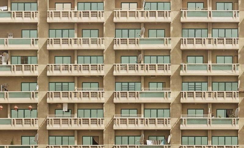 Non standard high rise flats