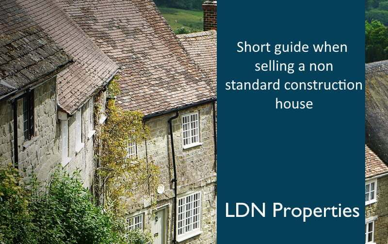 Guide to selling a non standard construction house