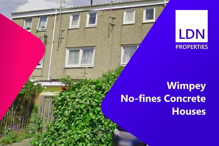 Selling Wimpey No-fines Concrete houses