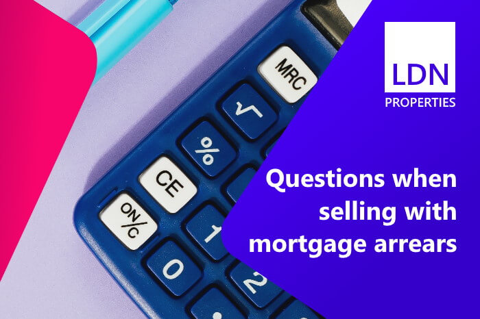 Questions when selling with mortgage arrears