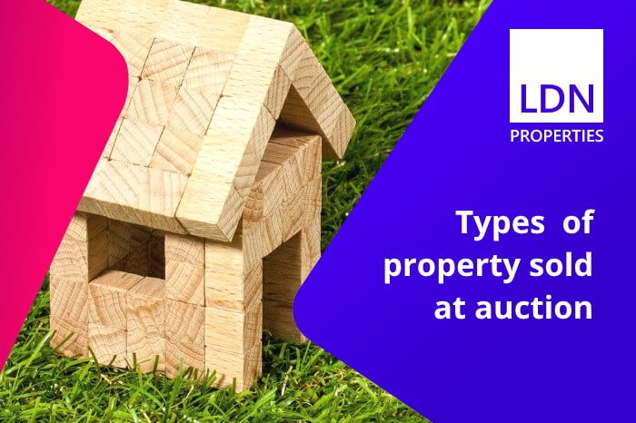 Types of property sold at auction